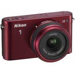 фото Фотокамера цифровая Nikon 1 J2 Kit 11-27.5mm VR. Цвет: красный