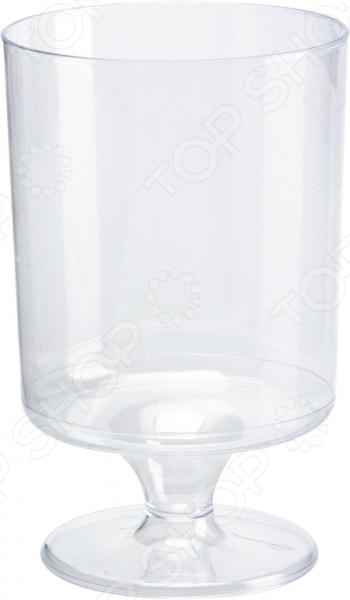 Набор бокалов Duni Cheateau 164379Бокалы<br>Считаете одноразовую посуду непрезентабельной или ненадежной Это точно не относится к изделиям от шведского производителя Duni. Каждое из них является воплощением превосходного качества, стильного дизайна и практичности. Одноразовая посуда это оптимальное решение для тех случаев, когда у вас мало времени, но есть желание организовать застолье по высшему разряду! Первоклассная одноразовая посуда! Набор бокалов Duni Cheateau 164379 столовая посуда отменного качества. Комплект выполнен из прочнейшего пищевого пластика. Этот материал обладает массой достоинств:  хорошо сохраняет форму;  не содержит вредных компонентов;  не деформируется при воздействии жидкости или горячих блюд;  обеспечивает широкие возможности дизайна;  не влияет на вкус питья;  очень приятен на ощупь.  Бокалы предназначены для подачи холодных напитков оптимальная температура от -4 до 1 градуса . Они сохраняют свою форму в течение длительного времени и не деформируются. А широкая подставка делает бокал более устойчивым и изящным. Идеальное решение для любого мероприятия Намечается корпоративная вечеринка или праздник на свежем воздухе В этих случаях без одноразовой посуды не обойтись! Вы не только сэкономите время и средства, организуя мероприятие, но получите действительно красивый и презентабельный стол. Эти стильные бокалы ничем не уступают стеклянным, они создадут приятную уютную атмосферу, а празднество пройдет на высоком уровне. После использования изделия можно выбросить. Забудьте о нудном мытье посуды, стянутой коже и потерянном времени лучше сохранить его для более важных дел. Выбирая пластиковые бокалы от Duni, вы выбираете качество, оригинальный дизайн и максимальное удобство!<br>