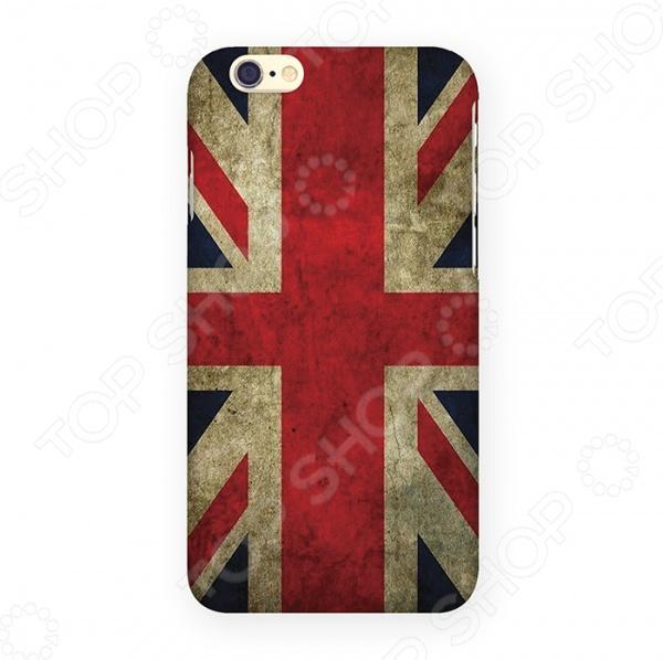 Чехол для iPhone 6 Mitya Veselkov «Потертый британский флаг» чехол для iphone 7 глянцевый printio русский флаг