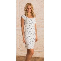 Купить Сорочка для беременных Nuova Vita 602.2. Цвет: синий