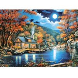 Купить Пазл 2000 элементов Castorland «Домик на озере»