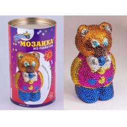 Купить Мозаика из пайеток 3D «Мишка»