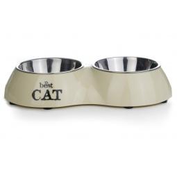 Купить Миска для кошек двойная Beeztees Best Cat. Double