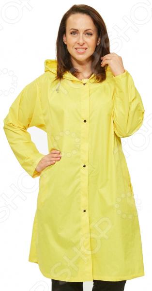 Плащ СВМ-ПРИНТ «Юджени». Цвет: желтыйВерхняя одежда<br>Плащ СВМ-ПРИНТ Юджени находка для осенне-весеннего сезона. Невероятно стильный плащ с капюшоном подчеркнет женственность вашего образа. Свободный силуэт и удачный узор делают его красивой и универсальной одеждой на все случаи жизни.  Легкий удобный плащ для теплой погоды.  Для удобства хранения прилагается специальная сумка, напоминающая по дизайну наволочку для подушки.  Застежка на кнопках.  Предусмотрены боковые карманы.  Длинные рукава с манжетами.  Необыкновенная форма капюшона с фиксированием шнурком.  Боковые разрезы позволяют распределять сборку по вашему желанию.  Уникальная модель, доступная только в телемагазине Top Shop . Плащ сшит из 100 полиэстеровой ткани с водоотталкивающей пропиткой. Прекрасно защищает от дождя и ветра.<br>