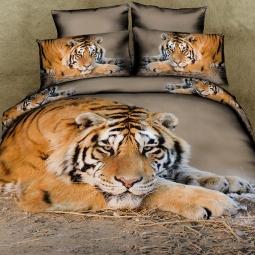 фото Комплект постельного белья с эффектом 3D Buenas Noches Tiger. Евро