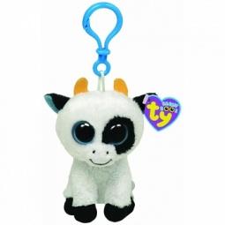 фото Мягкая игрушка с клипсой TY Корова DAISY. Высота: 8,5 см