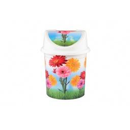 Купить Контейнер для мусора Violet 0408/82 «Цветы»