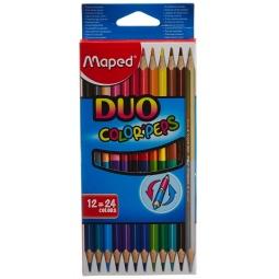 фото Набор цветных двусторонних карандашей Maped Duo