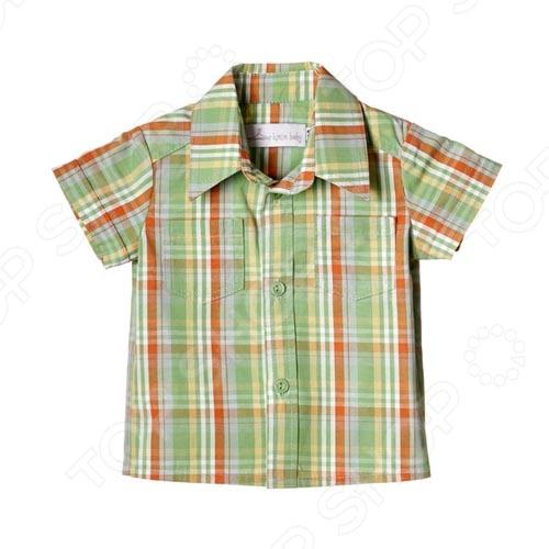 Детская рубашка Katie Baby London bus. Цвет: зеленый Детская рубашка Katie Baby London bus. Цвет: зеленый /92