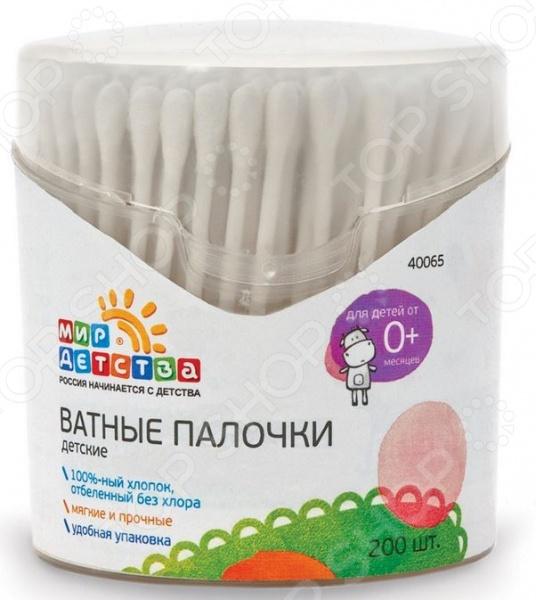 фото Ватные палочки детские Мир детства 40065, Уход за кожей
