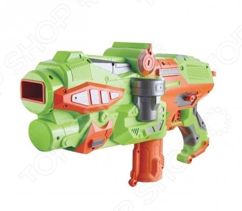 Оружие игрушечное Yako Y4416201Другое игрушечное оружие<br>Оружие игрушечное Yako Y4416201 оригинальный космический бластер, который специально создан для активных детей, обожающих подвижные игры. Оружие выполнено из высококачественной пластмассы, которая не утяжеляет его. Оно удобно ложится в руку, и его можно использовать даже из положения лежа. Оружие стреляет специальными пластиковыми дисками диаметром 4 см. Снаряды дополнены мягкими EVA кольцами, которые исключает возможность случайных травм. Всего в наборе комплекте 10 дисков. Все снаряды заряжаются в магазин. Взвод осуществляется отведением назад рычага сзади. Дальность стрельбы составляет 18 метров. Помимо самого оружия в комплекте вы найдете защитные очки.<br>