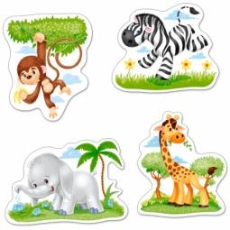 Купить Набор пазлов 4 в 1 Castorland «Африканские животные»