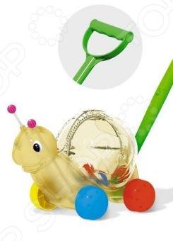 Каталка для малыша на палочке Стеллар «Улитка» 01359