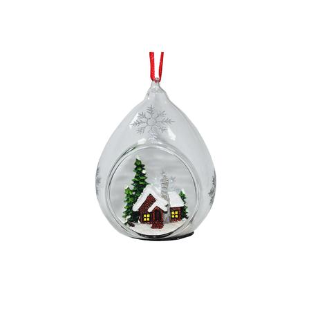 Купить Елочное украшение Crystal Deco «Украшение подвеска Заснеженный домик»
