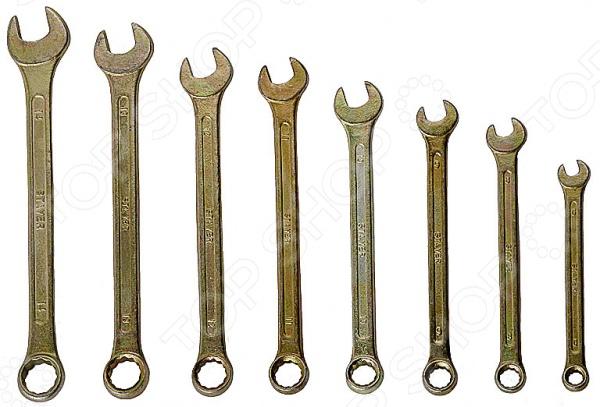 Набор ключей комбинированных Stayer «Техно» 27090-H8Комбинированные ключи<br>Набор ключей комбинированных Stayer Техно 27090-H8 комплект ключей, который окажется полезным при проведении монтажных и ремонтных работ. Кроме того, набор займет достойное место в инвентаре автомеханика. Стальные ключи с цинковым покрытием от фирмы Stayer прослужат вам долгую и надежную службу. В наборе 8 ключей размером 8-19 мм.<br>