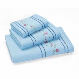 фото Полотенце махровое Любимый дом «Маргаритки». Размер полотенца: 70х35 см. Цвет: голубой
