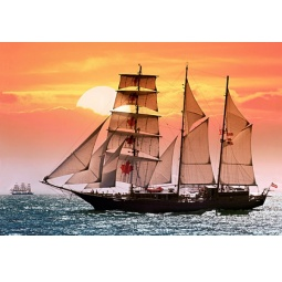 Купить Пазл 1000 элементов Castorland «Парусник на закате»
