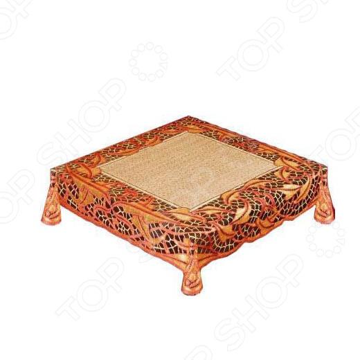 Скатерть Haft 50912-100. Цвет: коричневый