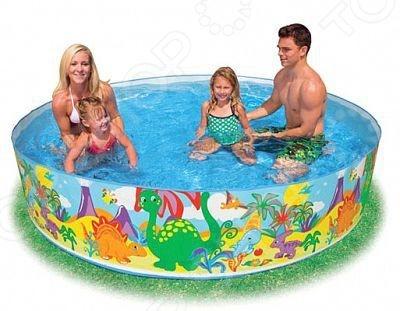 Бассейн детский Intex 58472 «Динозавр» бассейн каркасный intex 58472