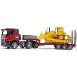 фото Машинка игрушечная Bruder «Тягач с прицепом и платформой» Scania