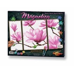 Купить Раскраска-триптих по номерам Schipper «Магнолия»