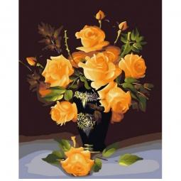 фото Набор для раскрашивания по номерам Белоснежка «Букет желтых роз»