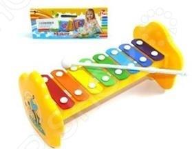 Игрушка музыкальная для ребенка Shantou Gepai «Ксилофон». В ассортиментеИгрушечные музыкальные инструменты<br>Товар продается в ассортименте. Цвет изделия при комплектации заказа зависит от наличия товарного ассортимента на складе. Игрушка музыкальная для ребенка Shantou Gepai Ксилофон музыкальный инструмент, игра на котором способствует развитию музыкального слуха и мелкой моторики пальчиков. Ксилофон подойдет любому ребенку, независимо от того, знаком ли он с нотной грамотой или же только начинает узнавать все тонкости мира музыки. Основа игрушки изготовлена из высококачественного пластика, пластинки из металла, окрашены в яркие цвета, которые создают еще более радостное настроение во время игры. Ксилофон с 8-ю тонами позволяет воспроизводить разные по высоте звуки с помощью специального молоточка. Ксилофон, помимо развития музыкального слуха, способствует улучшению координации движений, развитию тактильных ощущений, ловкости. Несомненно, наличие музыкального инструмента, пусть и игрушечного, прививает ребенку любовь к музыке и развивает его эмоционально.<br>
