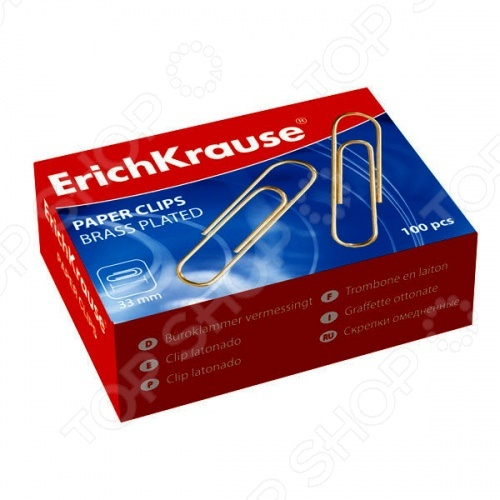 Скрепки канцелярские Erich Krause 24868