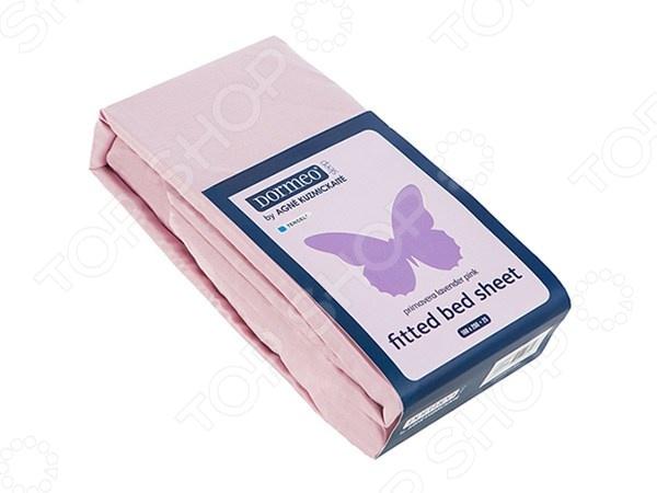Фото Простыня на резинке Dormeo PRIMAVERA. Цвет: фиолетовый. Размер: 100х200 см