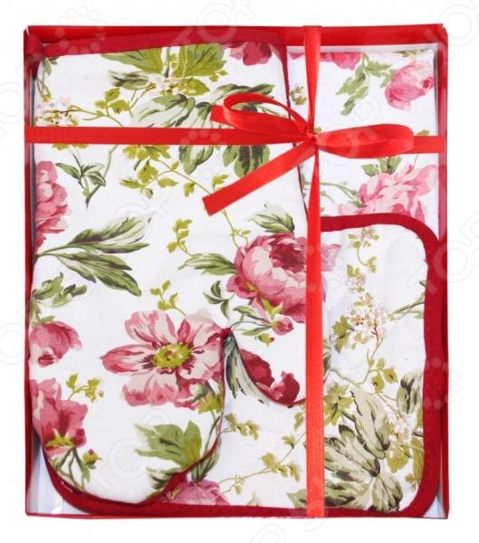 Комплект кухонный подарочный BONITA «Английская коллекция» 2001212191 полотенце valentini комплект кухонный 50x50 limoni fortes