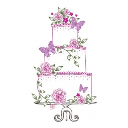 Купить Штамп силиконовый Wild Rose Studio «Свадебный торт»