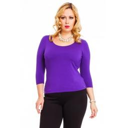 фото Кофта Mondigo XL 023. Цвет: фиолетовый. Размер одежды: 50