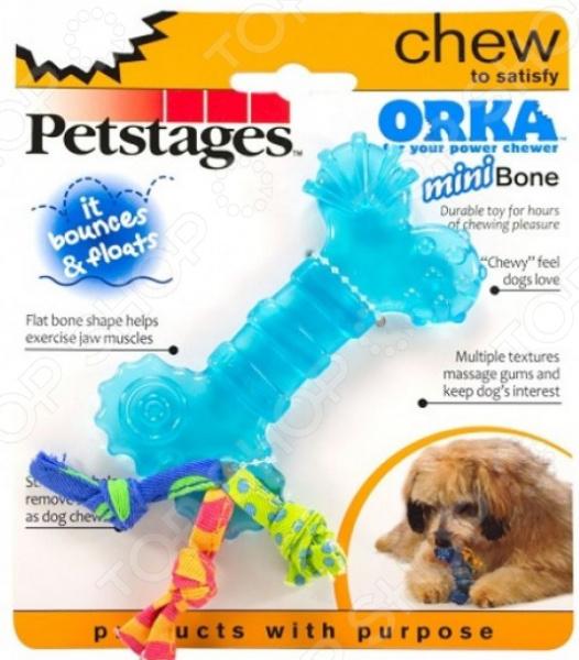 Игрушка для собак Petstages Mini ОРКА «Косточка»Игрушки для собак<br>Игрушка для собак Petstages Mini ОРКА Косточка это игрушка из резины, очень прочная и легкая, а значит подойдет для разных собак. Игрушку можно использовать в качестве апортировочных предметов, чтобы не опасаться повредить что-либо при броске. Собаки любят трепать и грызть мягкую игрушку, ведь ее удобно носить в зубах. Игрушки такого типа подойдут даже для тех собак, которые не очень любят играть в перетягивания, но любят носить с собой какой-то предмет. Эта игрушка станет одной из самых любимых у вашего четвероногого друга.  Она провоцирует вашего питомца на активные игры, которые являются не только хорошей физической нагрузкой, но и развлечением пока вас нет дома.  Игрушка может разнообразить прогулку, развить природные инстинкты и стать важным элементом дрессировки хорошего поведения. Регулярно играйте со своей собакой и вы увидите, что ответом вам служит безграничная любовь и преданность!<br>