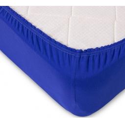 фото Простыня ТексДизайн на резинке. Цвет: синий. Размер простыни: 180х200 см