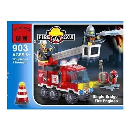 Купить Конструктор игровой Brick «Пожарная машина» 903