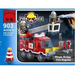 фото Конструктор игровой Brick «Пожарная машина» 903