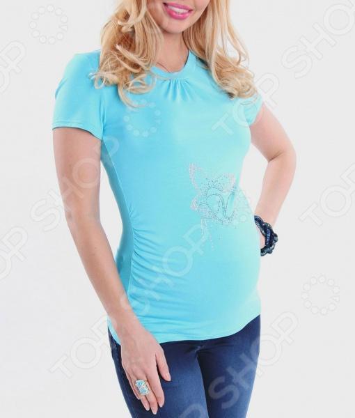 Футболка для беременных Nuova Vita 1215.06. Цвет: светло-голубой