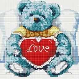 фото Набор для создания мозаичной картины Белоснежка «Медвежонок с сердцем»