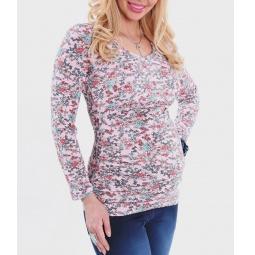Купить Футболка для беременных Nuova Vita 1214.14. Цвет: розовый