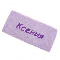 фото Полотенце подарочное с вышивкой TAC Ксения. Цвет: сиреневый
