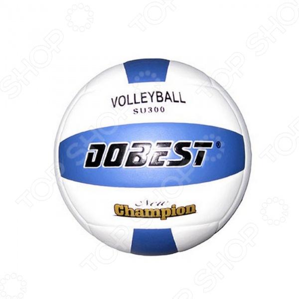 Мяч волейбольный DoBest SU300Мячи волейбольные<br>Мяч волейбольный DoBest SU300 прочный и качественный спортивный снаряд, который идеально подходит для любительской игры в волейбол. Клееная четырехслойная конструкция отличается удивительной устойчивостью в механическим повреждениям и частому использованию, поэтому мяч можно брать с собой как на отдых, так и на игровую площадку во дворе или спортивном зале. Легкий мяч отлично подходит для игр внутри и вне помещений. В основе лежит резиновая камера, которая обеспечивает упругость и оптимальную высоту отскока. Панели выполнены из синтетической кожи.<br>