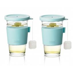 фото Набор стаканов для напитков с крышками Glasslock GL-1363