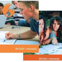 Купить Учебник современного испанского языка. Planeta Espanol. En Clase 2. Intermedio (+ рабочая тетрадь и CD)