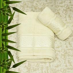 фото Полотенце махровое Mariposa Aqua Bamboo. Цвет: кремовый