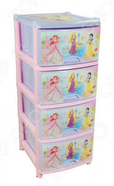 Комод 4-х секционный Альтернатива Disney 1 «Принцессы»