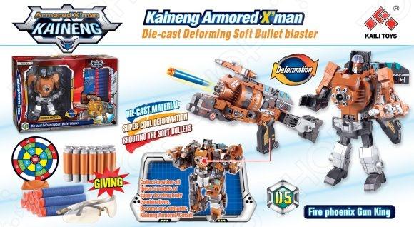 Робот-трансформер Shantou Gepai «Бластер с мягкими пулями» SB202Роботы и трансформеры<br>Робот-трансформер Shantou Gepai Бластер с мягкими пулями SB202 - станет отличным подарком для любого мальчика. Трансформер представляет собой Робота-Бластера с мягкими пулями. В комплект входят 8 пуль, дальность выстрела составляет 10 м. Подобные занятия очень полезны для детей, они способствуют развитию памяти, смекалки, так же развивают воображение, внимательность, мышление и координацию движений. Игрушка выполнена из качественных и безопасных материалов, что значительно продлевает срок ее службы.<br>