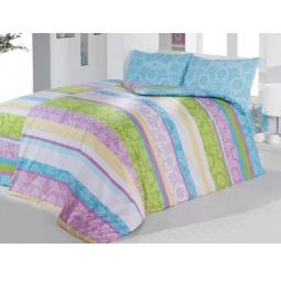фото Комплект постельного белья Casabel Sienna. Семейный. Цвет: голубой