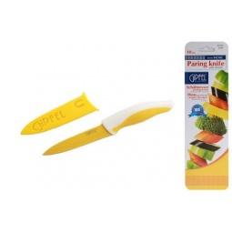 фото Нож Gipfel в пластиковом чехле. Цвет рукояти: желтый