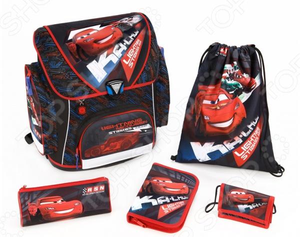 Ранец с аксессуарами Scooli Cars CA13825