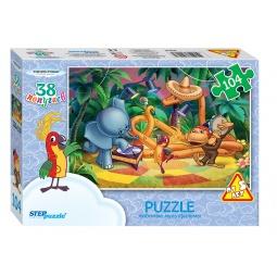 фото Пазл 104 элемента Step Puzzle «38 попугаев»
